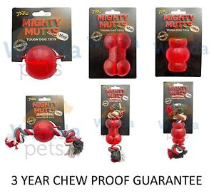 SALE-MIGHTY-MUTTS-MINI-STRONG-TOUGH-RUBBER-DOG-PUPPY-CHEW-TOYS-6-TYPES