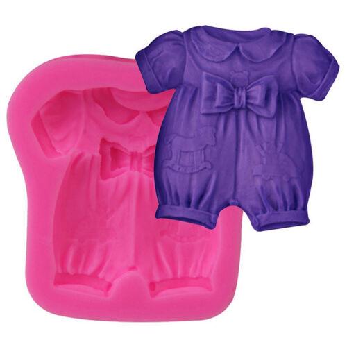 Bow Baby Kleidung Silikon Schokoladenform Fondant Kuchen Gebäck Dekor Nizza ho