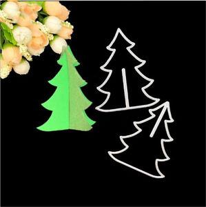 Stanzschablone-3D-Tannenbaum-Weihnachts-Geburtstag-Hochzeit-Karte-Album-Deko-DIY