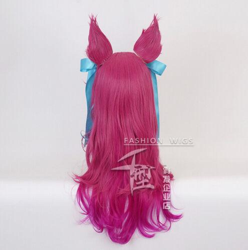 LOL Spirit Blossm Ahri Cosplay Kostüme Kimono Dress Free Wig
