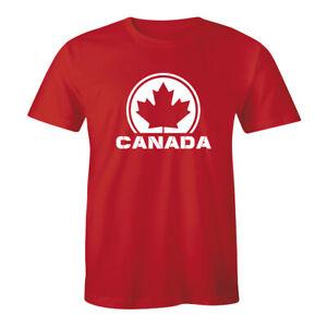 Canadian-Maple-Leaf-Flag-Canada-National-Flag-Shirt-Retro-Football-Men-039-s-Tee