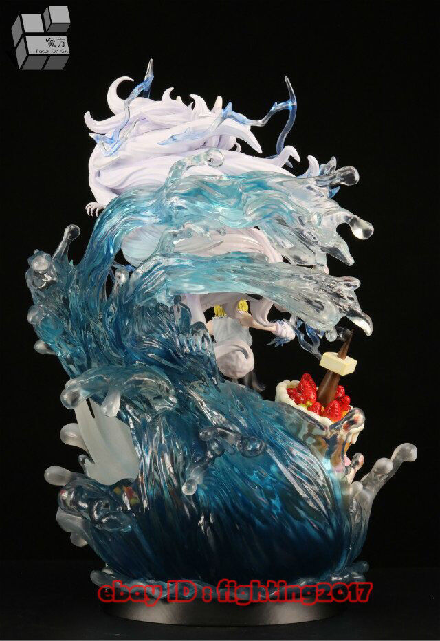 One Piece Carred Resin Figurine Moon Lion Painted Statue Statue Statue Led Light GK Collection 81f107