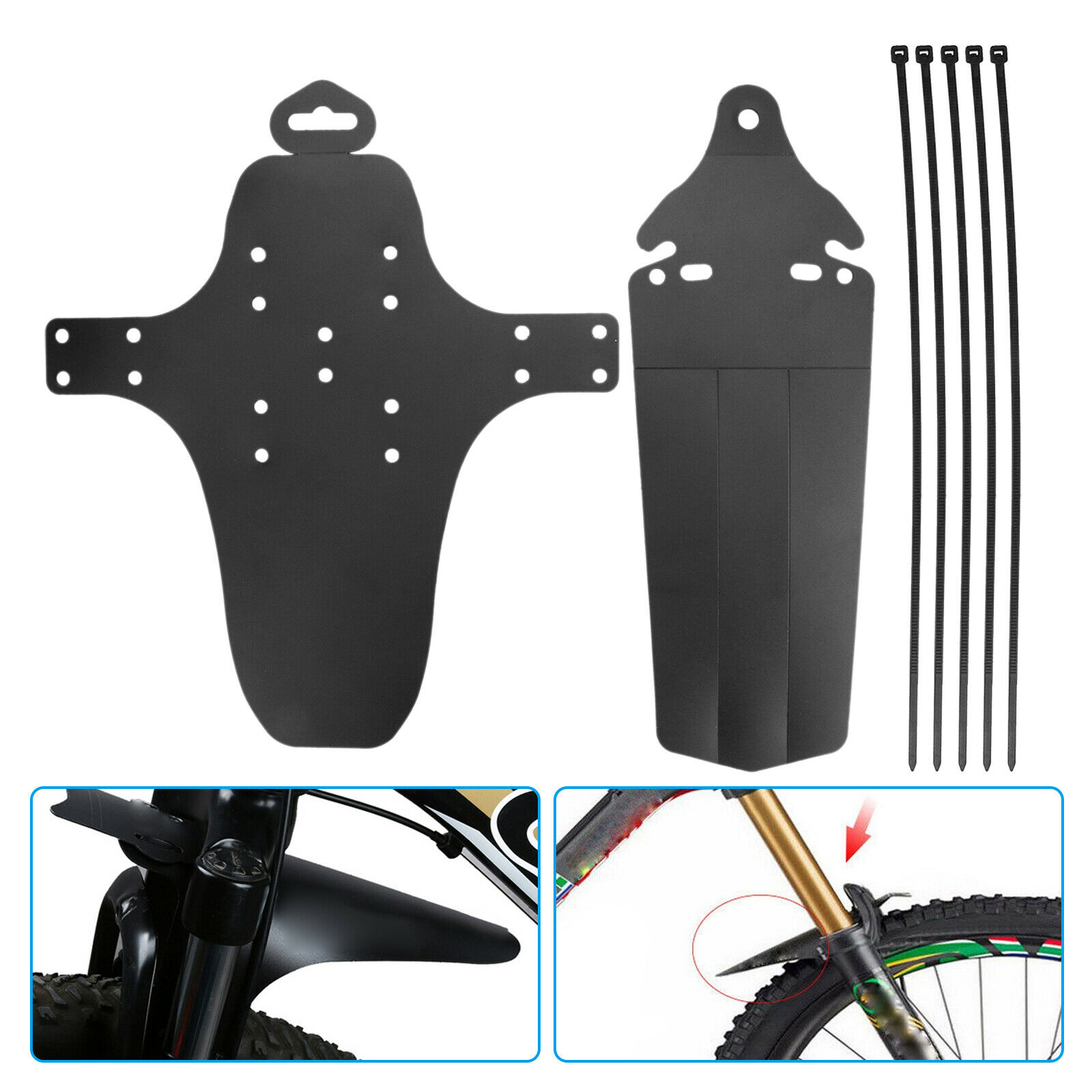 Rear Fenders Mud Guards MTB Mudguard 1 Set Cycling Mountain Bike Bicycle Front