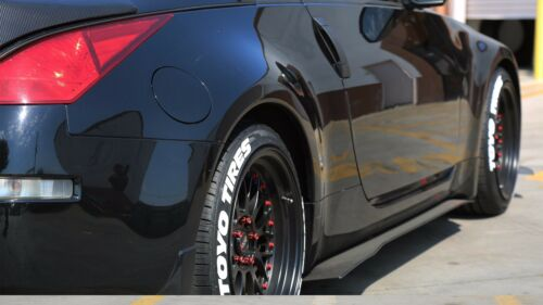 """4pcs TOYO TIRE STICKERS Raised White Lettering 1.75/"""" For 14/"""" 15/"""" 16/"""" Wheels"""