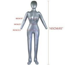 Inflatable Full Body Female Model W Arm Ladies Mannequin Display Props Durable