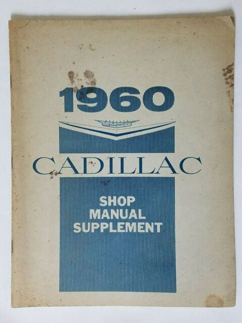 1960 Cadillac Shop Manual Supplement With Wiring Diagram
