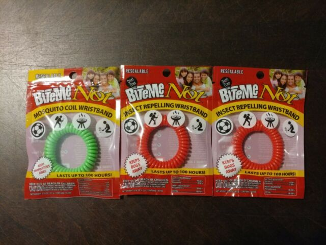BITE ME NOT INSECT REPELLING WRISTBAND Bug Band