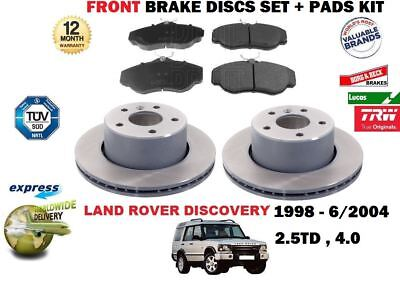 LAND ROVER DISCOVERY 2 TD5 NEW FRONT OEM BRAKE DISC AND BRAKE PAD SET DISCS PADS