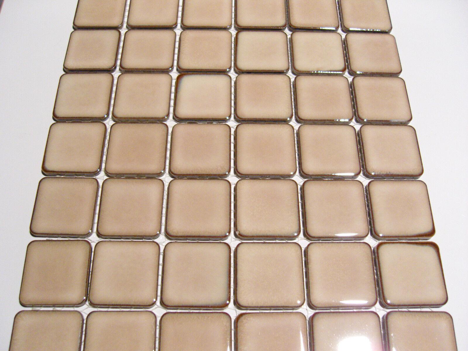 0,95 qm - Mosaik Fliesen Feinsteinzeug braun  45mm x 55mm - CB 260 RC Keramik
