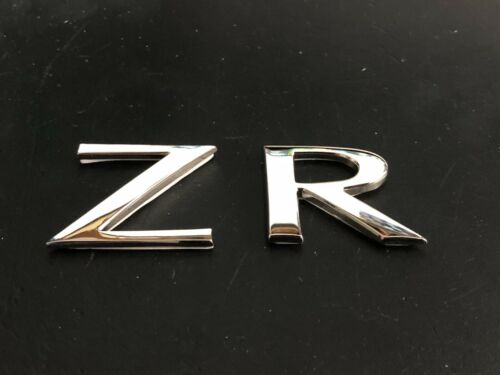 mg zr rear letter badge chrome with self adhesive backing new