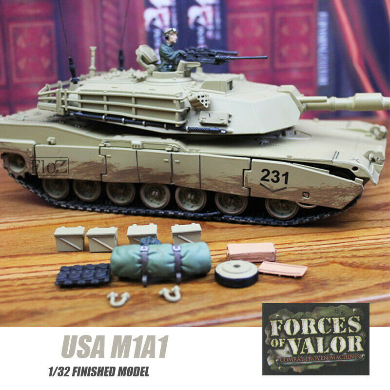 USA M1A1 1 32 finished tank model non diecast FOV