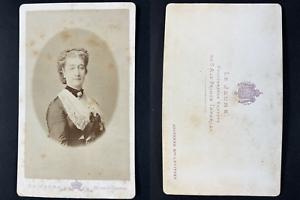 Le Jeune, Paris, Impératrice Eugénie de Montijo Vintage cdv albumen print Ti