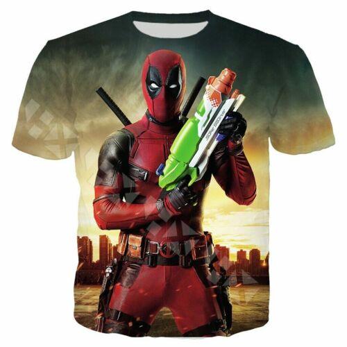 Funny Deadpool 3D Print Casual T-Shirt Newest Women Men Short Sleeve Tops