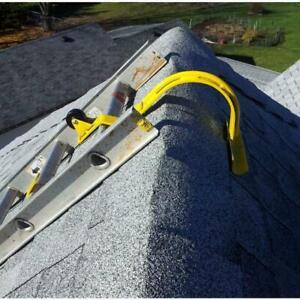 heavy duty roof ridge ladder hook | acro lock swivel adjustable steel wheel each