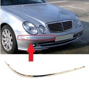 Para-Mercedes-Benz-Clase-E-W211-02-06-Parachoques-Delantero-Moldura-Cromo-Right