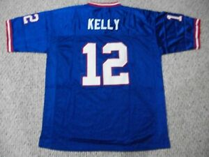 Details about JIM KELLY Unsigned Custom Buffalo Blue Sewn New Football Jersey Sizes S-3XL