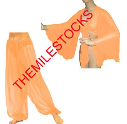 TMS Multi Harem Yoga Pant Top Belly Dance Gypsy Aladdin Trouser Pantaloons Haut