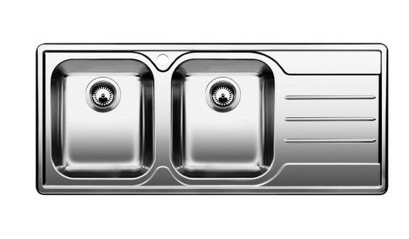 blanc lavello blancMEDIAN 8 S vasche a sinistra acciaio inox