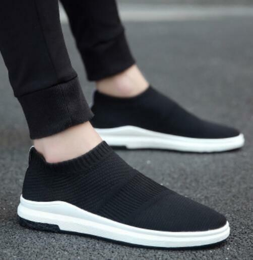 Men's Breathable Running Sports Athletic Trainers Sneakers Casual Pull On shoes