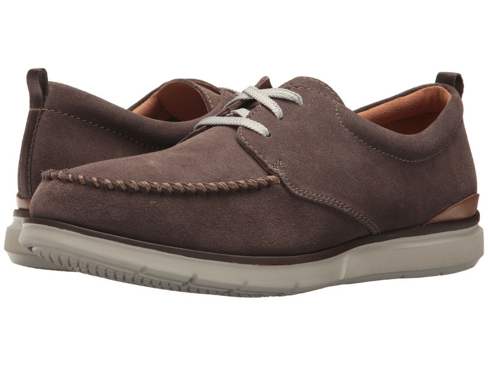 Men's Shoes Clarks Edgewood Mix Casual Lace Up 31734 Taupe Suede *New*