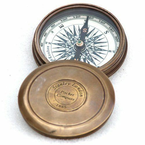 """3/"""" Maritime Collectible Compass Solid Brass Finish Navigational Vintage Style"""