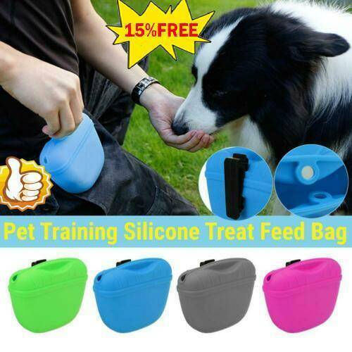 Pet Training Treat Bag Pouch Silicone With Clip Waist Pack Feed Feed Dog_NICE