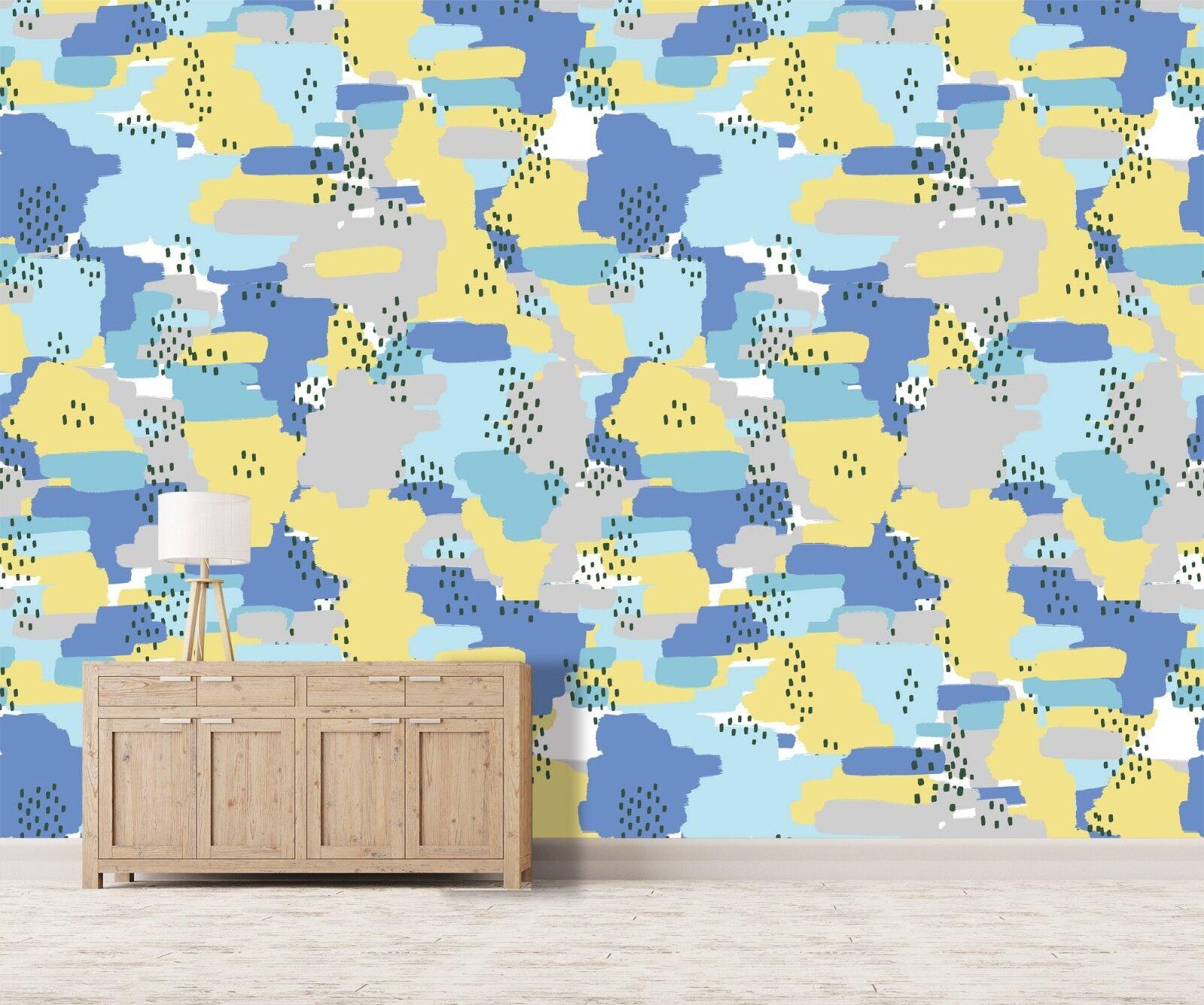 3D Farben Mosaikmuster 1002 Tapete Wandgemälde Tapete Tapeten Familie Kinde DE