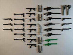 Guns-for-Lego-Minifigures-Lot-of-39-New-Sniper-Rifle-Weapons-Accessories