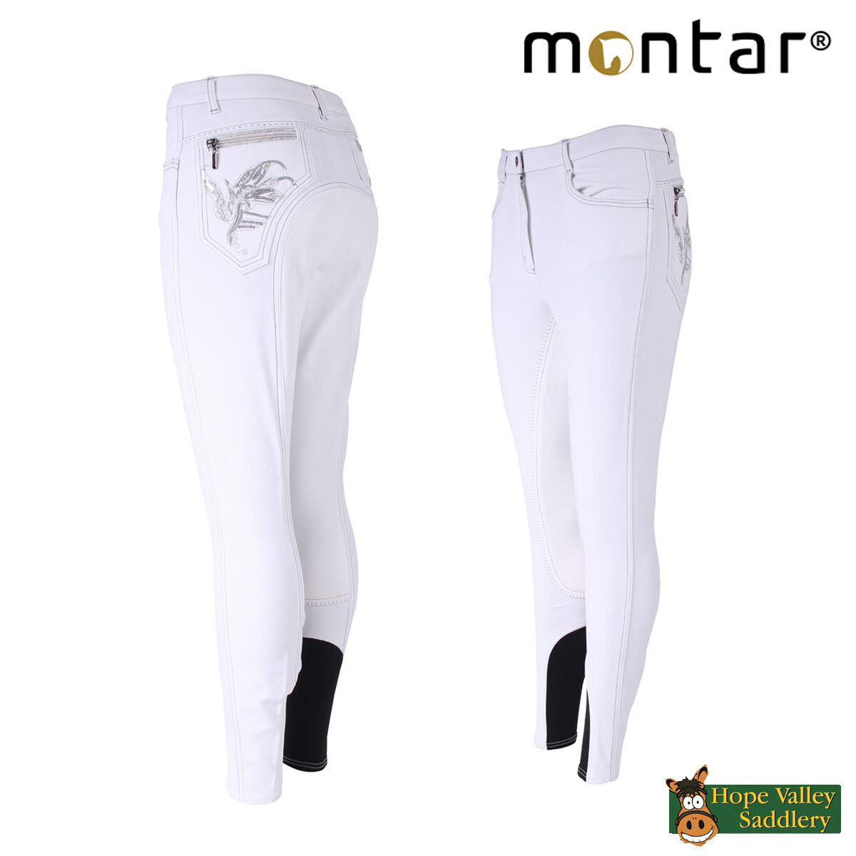 Montar Paillet Embroidered Full Seat Ladies Breeches (2061-1) - Sale