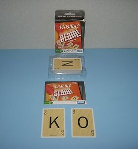 Parker Brothers Scrabble Slam High Speed Four Letter Word Game for