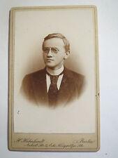 Berlin - 1897 - Friedrich Görz als junger Mann - Portrait / CDV