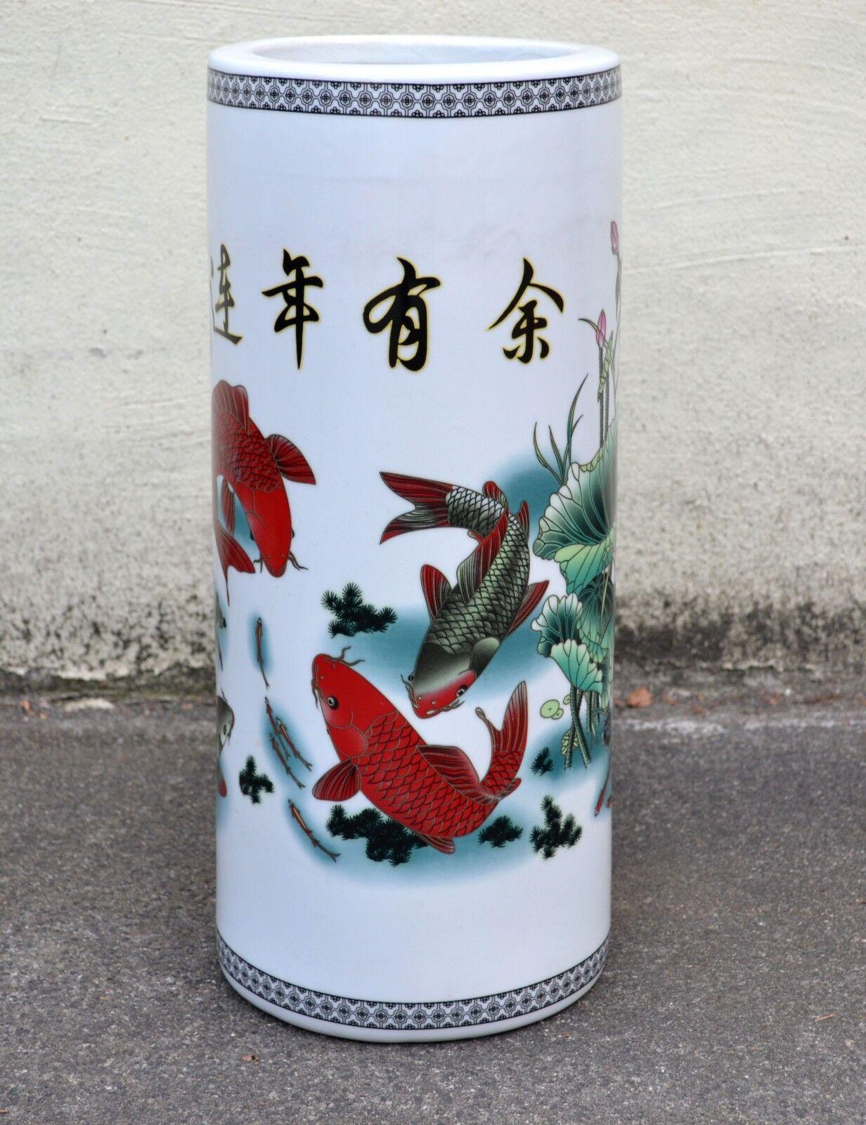 Chinesisch Möbel Asien Deko Deko Deko Schirmständer asiatische Regenschirmhalter Keramik 49df08