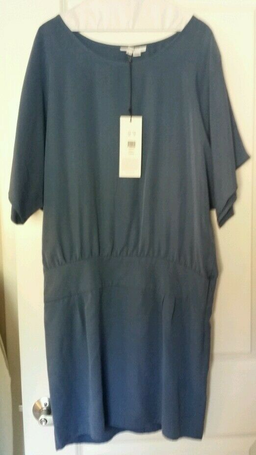 Adam Lippes dress, Size 10 Solid Solid Solid bluee color 7ea295