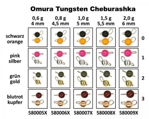 FTM Omura Tungsten Cheburashka 4,5mm 0,8g Schwarz Orange 5800060 Ultra Light