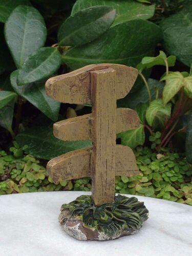 Miniature Dollhouse FAIRY GARDEN ~ Unicorn Crossing Fairy Ring Troll Bridge Sign