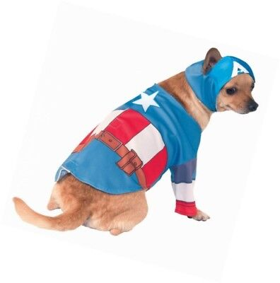 Marvel Captain America Dog Costume Large Ebay Your pooch will look absolutely adorable dressed up as tony stark's alter ego. ebay