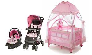 Disney Baby Girl Stroller with Car Seat Infant Playard ...