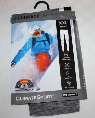 Climate Smart Base Layer Men/'s Pants XXL NWT Black Heavy or Dark Gray Mid Weight
