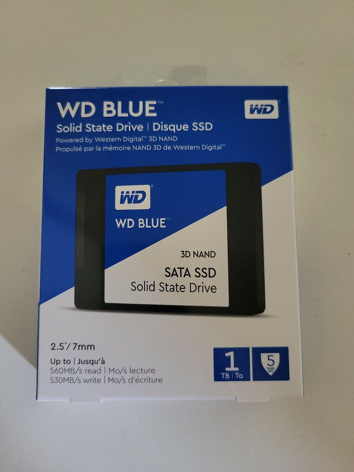 WD BLUE 1TB SOLID STATE DRIVE SSD WESTERN DIGITAL 2.5
