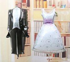 """Wedding Dress & Tuxedo Balloons 36"""" Wedding Engagement Bridal Shower Decorations"""