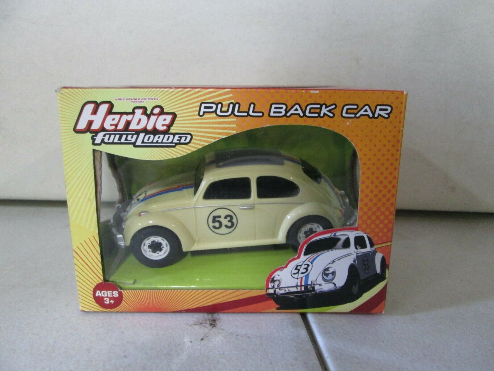 Planet Toys Herbie Fully Loaded Pull Back Car