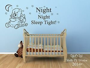 Winnie The Pooh Wall Art winnie the pooh wall sticker wall art childrens bedroom wall