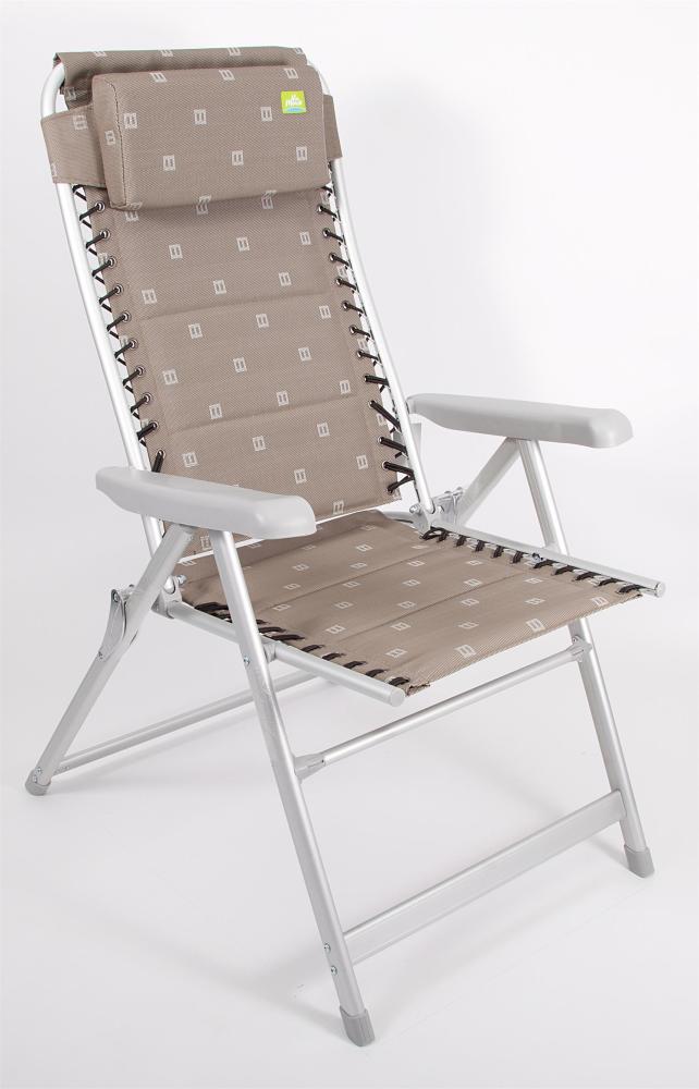 Via Mondo Grove XL Flex Chair Beige Lightweight Caravan Camping Chair CLEARANCE