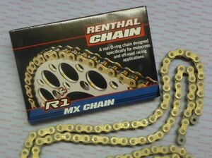 Renthal-R1-Heavy-Duty-Motocross-Chain-Gold-520-x118L-For-Honda-CRF250-CRF450
