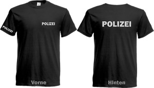 Police-T-Shirt-Black-3-x-Fold-print-in-silver-reflex-size-S-to-5XL-NEW
