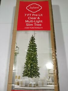 Joyland-7-Foot-Pre-Lit-Clear-and-Multi-Light-Slim-Pencil-Tree-GallyHo