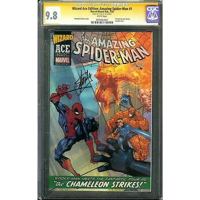 Wizard Ace Edition: Amazing Spider-Man #1 CGC 9.8 SS STAN LEE Acetate Cover