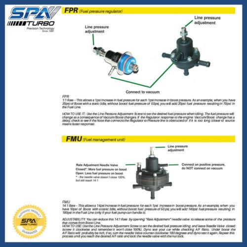 Fuel management unit FMU 14:1 0-100 PSI for returnless deadhead fuel system line