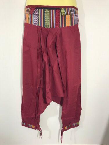 Gypsy Hippie Aladino Hmong Baggy con motivo Harem Pants Pantaloni Uomo Donna Martello