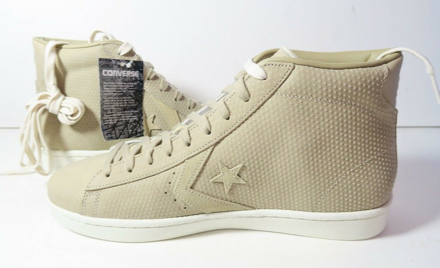 Converse Pro Leather PL 76 Mens Mid155648C Vintage Khaki Leather Mens 76 Size 13 NO LID* 19599d